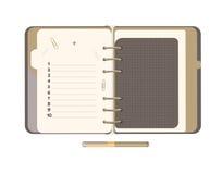 Tagebuch mit leerer Liste Stockfotografie