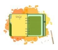 Tagebuch mit leerer Liste Stockbild