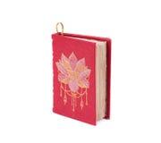 Tagebuch mit Weinleseabdeckung Stockbilder