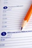 Tagebuch-Seite Stockfotos