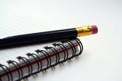 Tagebuch und Bleistift Stockbild