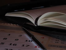 Tagebuch und Stift Lizenzfreie Stockfotografie