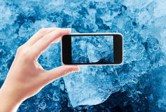 tagen hylla för bild för Antarktiskristallis Royaltyfri Fotografi