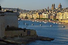 Tagesanbruch in Malta Stockbilder