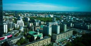Tagesansicht der Stadt Warschau Stockbild