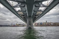 Tagesansicht an einem Brückenbau Lizenzfreie Stockbilder