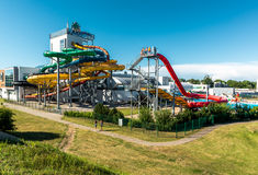 Tagesansicht von Livu Aquapark Stockbild