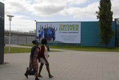 2. TAGESfrauen LIEFERN DIE 4. GLOBALE KONFERENZ Lizenzfreie Stockfotos