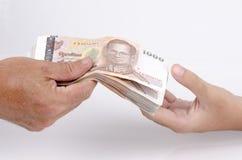 Tagesgeld und Kapitalien. stockfoto