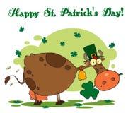 Tagesgruß Str.-Patricks einer Kobold-Kuh Lizenzfreie Stockfotos