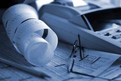 Tageshandelnblau Stockfotografie