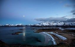 Tagesheller Mond Stockfotografie