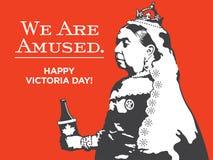 Tagesillustration der Königin-Victoria We Are Amused Victoria stock abbildung