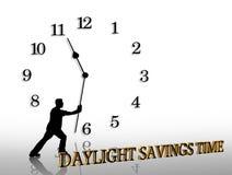 Tageslicht-Sparungen setzen Zeit Grafik fest vektor abbildung