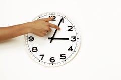 Tageslichtsparungen setzen Zeit Endes fest, der zurückgesetzten Borduhr (DST) Stockbilder