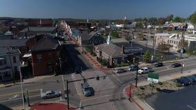 Tageslufteinspieler der Kleinstadt Salem Ohio USA stock video footage
