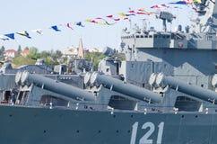 Tagesmilitärmarineseeflotte von Russland Stockfoto