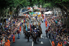 Tagesparade Brisbanes Anzac Lizenzfreie Stockbilder