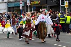 Tagesparade Str.-Patricks im Limerick Lizenzfreie Stockfotos