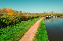 Tagesreise durch den Kanalleinpfad - Vereinigtes Königreich stockbilder