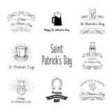 Tagestraditioneller Symbolsatz St Patrick s Auch im corel abgehobenen Betrag lizenzfreie abbildung