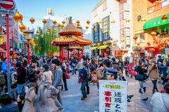 Tageszeit bei Chinatown in Kobe, Japan lizenzfreie stockbilder
