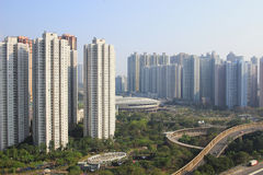 Tageszeit von tseung kwan O, Hong Kong Stockfoto