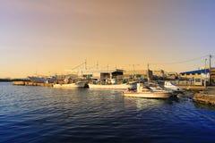 Tageszeitansicht von Hakodate-Bucht, Hokkaido Lizenzfreies Stockfoto