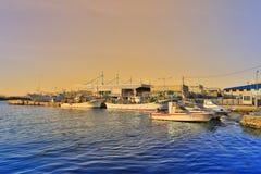 Tageszeitansicht von Hakodate-Bucht, Hokkaido Stockfotografie