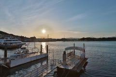 Tageszeitansicht von Hakodate-Bucht, Hokkaido Lizenzfreies Stockbild