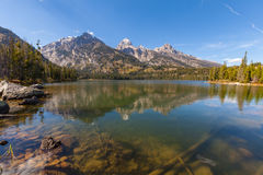 Taggart Lake Fall Reflection Royalty Free Stock Image