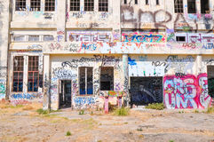Tagging: Abandoned Power House Royalty Free Stock Images