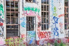 Tagging in Color: Old Power House Royalty Free Stock Image