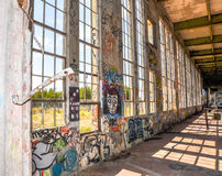 Tagging in the Shadows: Old Power House Royalty Free Stock Photography