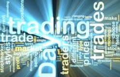 Taghandelnwordcloud Glühen Stockbild