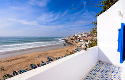 Taghazout海浪村庄,阿加迪尔,摩洛哥2 免版税图库摄影