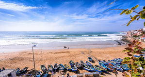 Taghazout海浪村庄,阿加迪尔,摩洛哥4 免版税库存照片