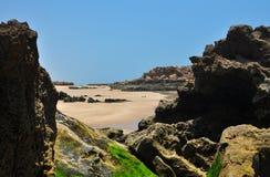 Taghazout beach rocks Stock Image