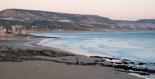 Taghazout-Strandpanorama Lizenzfreie Stockbilder
