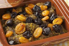 Tagine with apricots and prunes Stock Photo