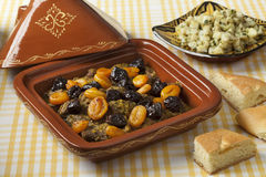 Tagine with apricots and prunes Royalty Free Stock Photos