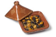 Tagine with apricots and prunes Stock Photography