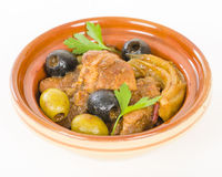 Tagine de poulet photo stock
