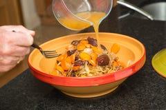 Tagine kulinarny przygotowanie Fotografia Stock