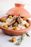 Tagine with lamb ribs Royalty Free Stock Photos
