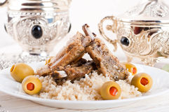 Tagine with lamb ribs Royalty Free Stock Image
