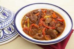 tagine moroccan говядины Стоковые Изображения