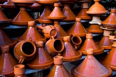 Tagine on Morocco Market. View Royalty Free Stock Image