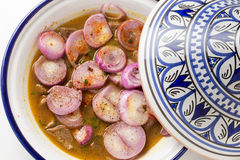 Tagine with onion horizontal Stock Image