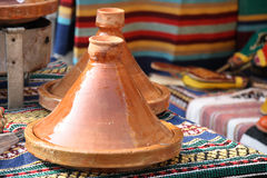 Tagine oriental pot Stock Photos